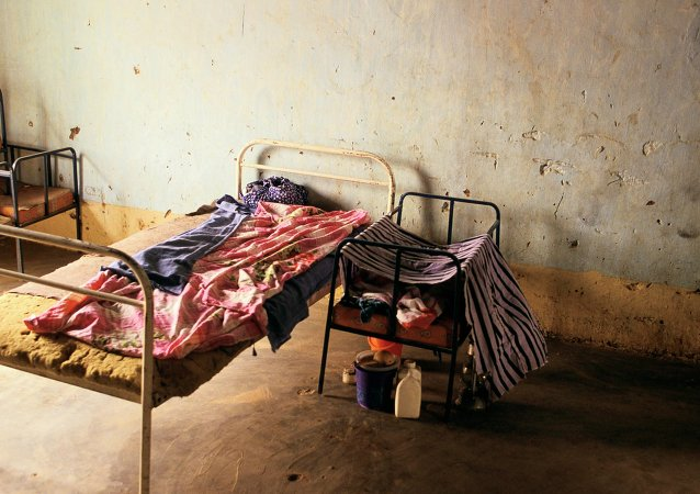 Hospital bed in Mali