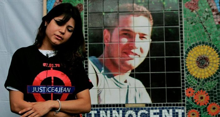 Vivian Figueiredo, cousin of Jean Charles de Menezes, marking the fourth anniversary of his death, attends a ceremony to unveil his memorial.