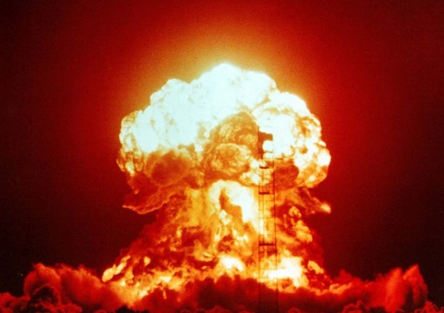 An atmospheric nuclear test