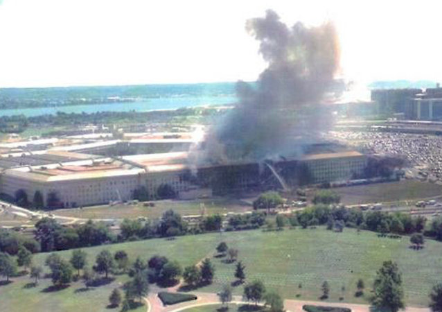 Pentagon after American Airlines Flight 77 crashed into the building in the 11 September 2001 terrorist attacks. (File)