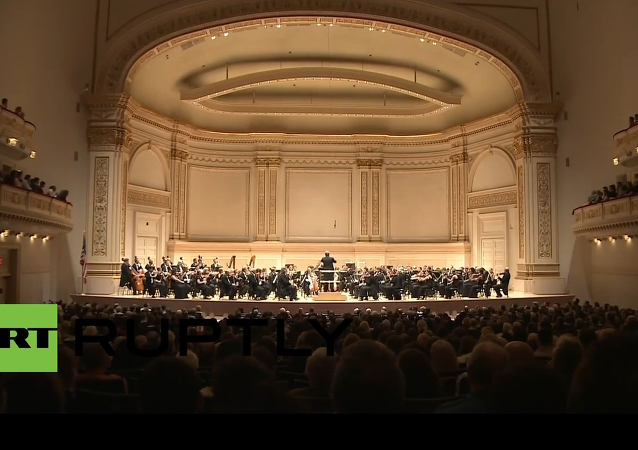 USA: St. Petersburg Philharmonic Orchestra plays Carnegie Hall on Russia Day