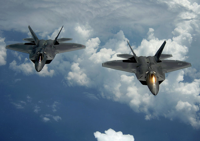 F-22 Raptor jets. File photo.