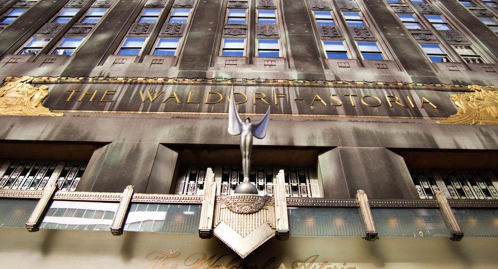 Waldorf-Astoria Hotel, New York.
