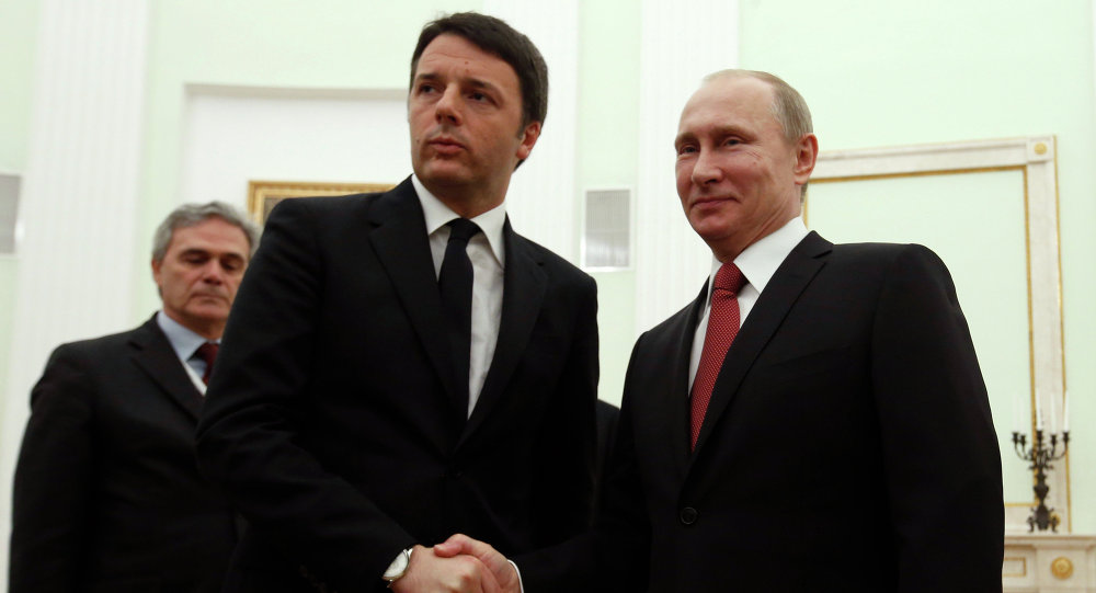 Italian Prime Minister Matteo Renzi and Italian Prime Minister Vladimir Putin