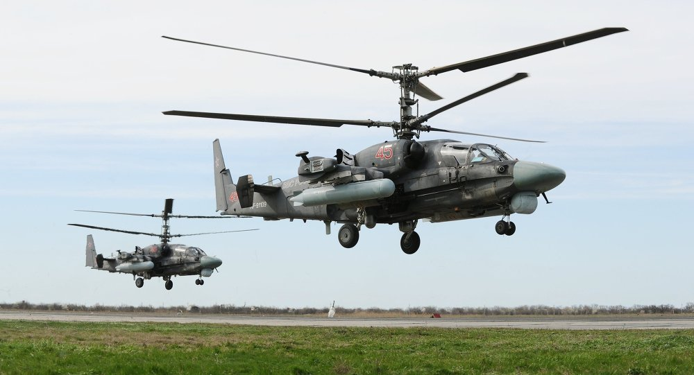 Ka-52 Alligator multi-purpose all-weather helicopters