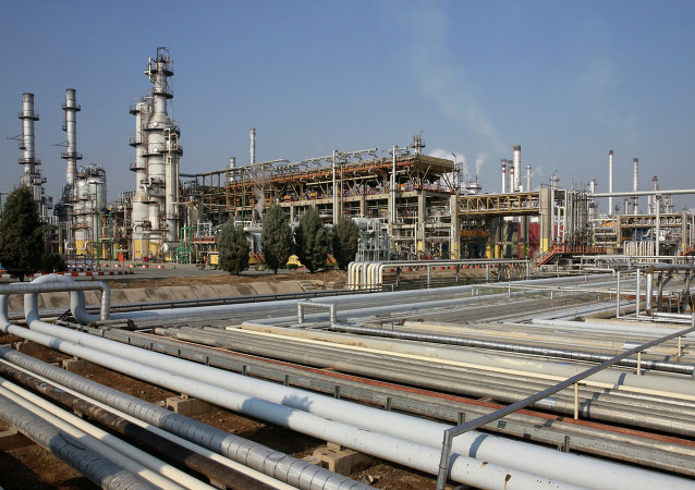 General view of part of the Tehran's oil refinery south of the capital Tehran, Iran