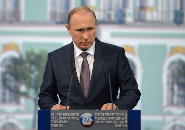 Vladimir Putin attends St. Petersburg International Economic Forum