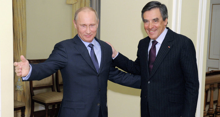 Vladimir Putin meets with Francois Charles Armand Fillon