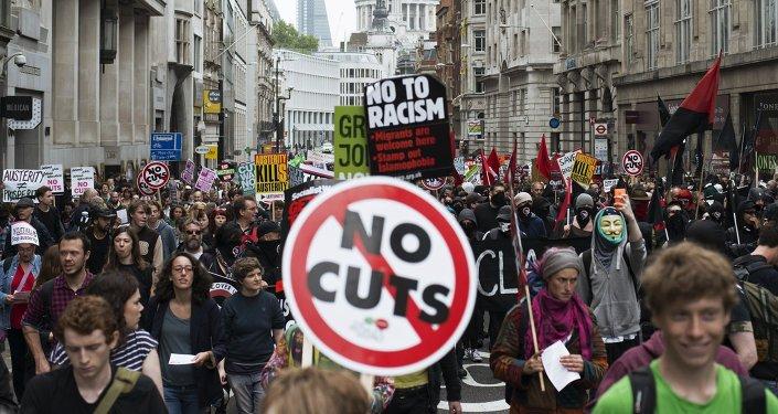 Anti-austerity rally in London