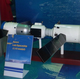 A display mock-up of Tiangong-2