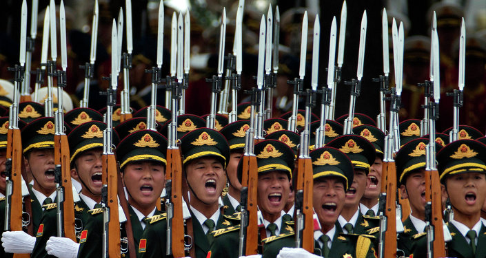 Members of a Chinese honor guard.
