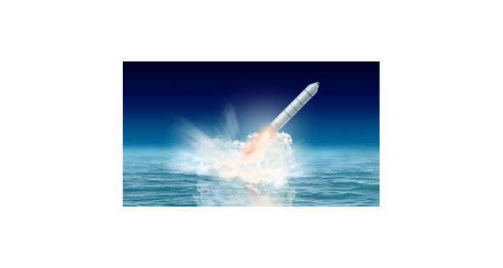 Artist's rendering of the Bulava missile.