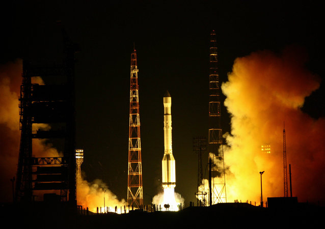 Launch of carrier rocket Proton-M.