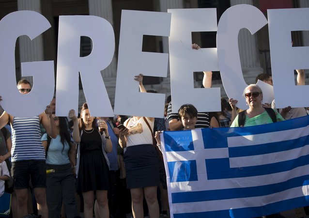 Demonstrators gather to protest against the European Central Bank's handling of Greece's debt repayments in Trafalgar Square in London, Britain June 29, 2015