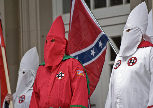 At least three people were stabbed in the clashes that erupted during a rally organized by US white supremacist faction Ku Klux Klan in southern Californian city of Anaheim, local media reported.