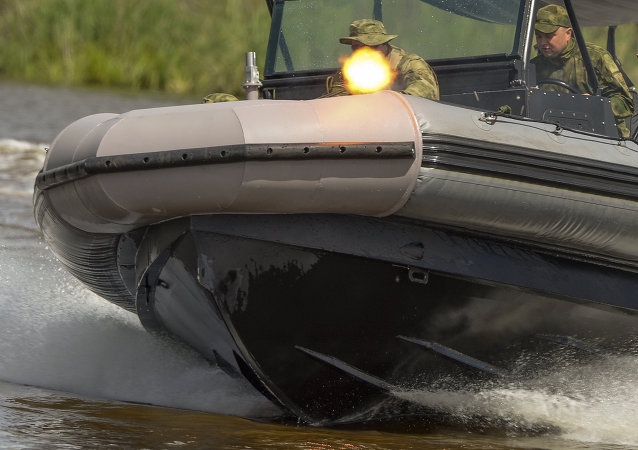 A BK-10 motor boat at the Army 2015 International Military-Technical Forum in Kubinka