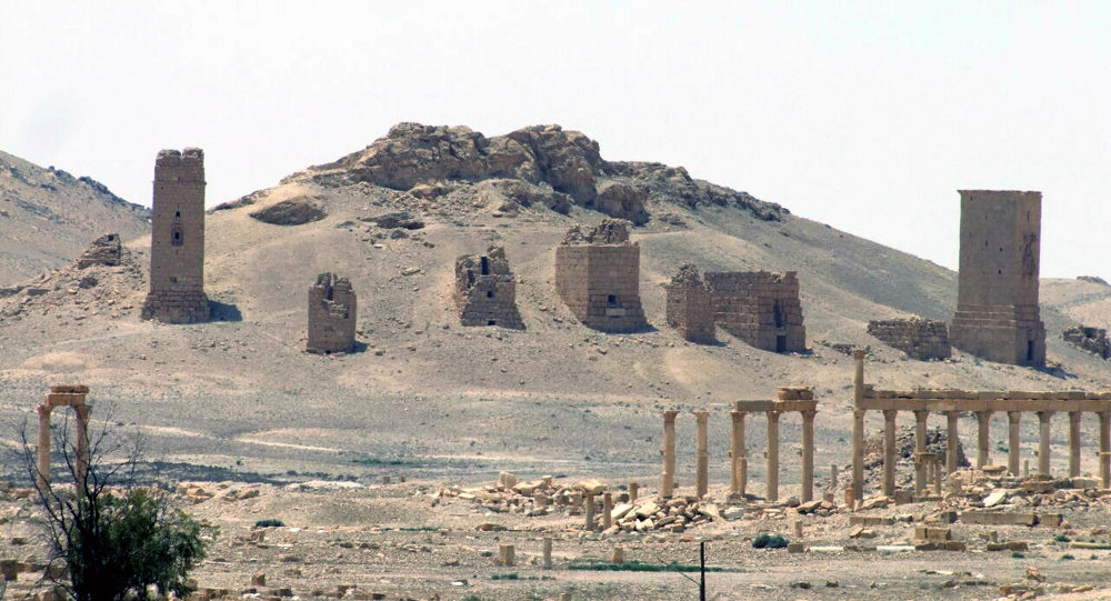 This file photo released on Sunday, May 17, 2015, by the Syrian official news agency SANA, shows the general view of the ancient Roman city of Palmyra, northeast of Damascus, Syria