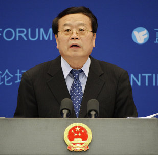 Chinese vice-foreign minister Cheng Guoping answers questions during a Shanghai Cooperation Organisation (SCO) forum prior to next month's summit between the Presidents of Rusia, Iran and China, in Beijing on May 29, 2012