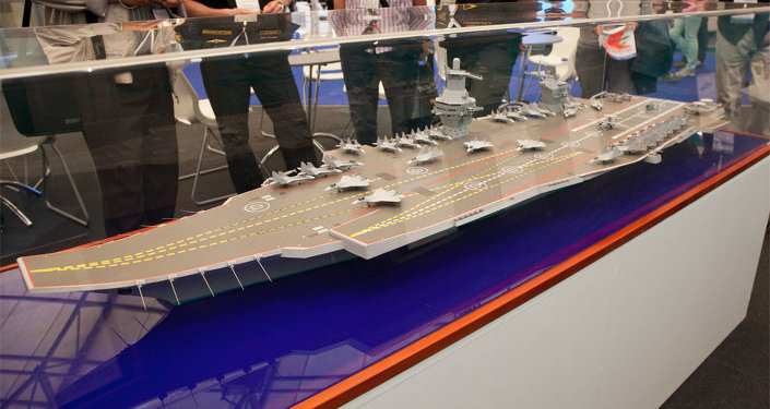 Project 23000E, one of the prospective new aircraft carriers proposed by the Krylov State Research Institute.