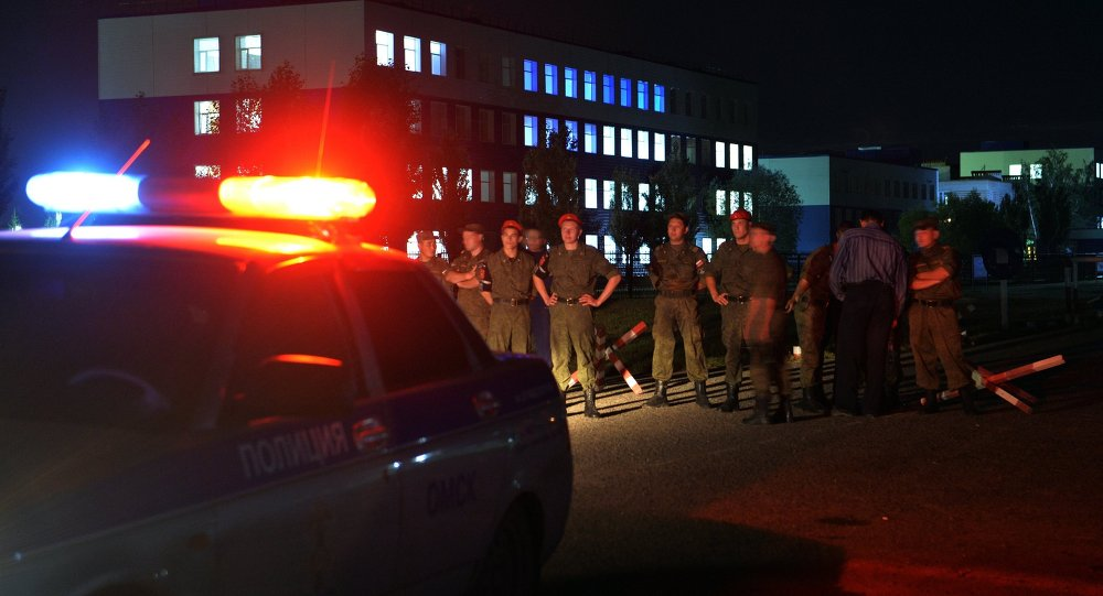 Roof collapse at the training center of the Russian Airborne Forces in the Omsk Region