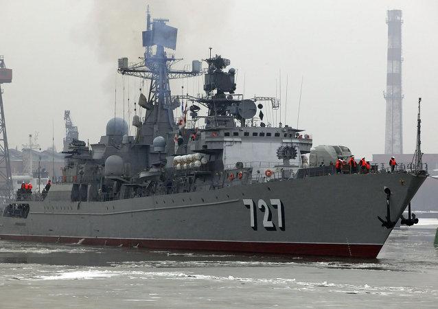 Russian border patrol vessel