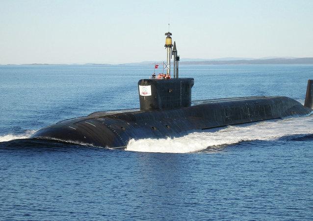 Borey class nuclear-powered ballistic missile submarine Yuri Dolgoruky