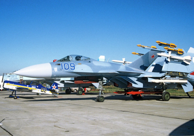 Su-33 carrier-based jet fighter