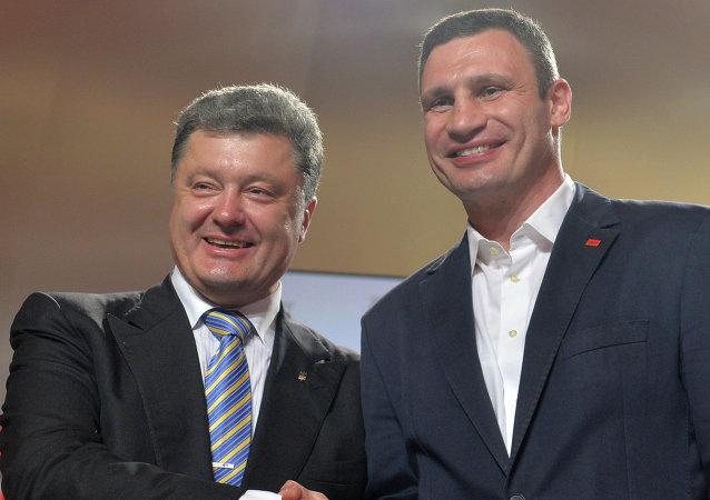 Petro Poroshenko and Vitali Klitschko