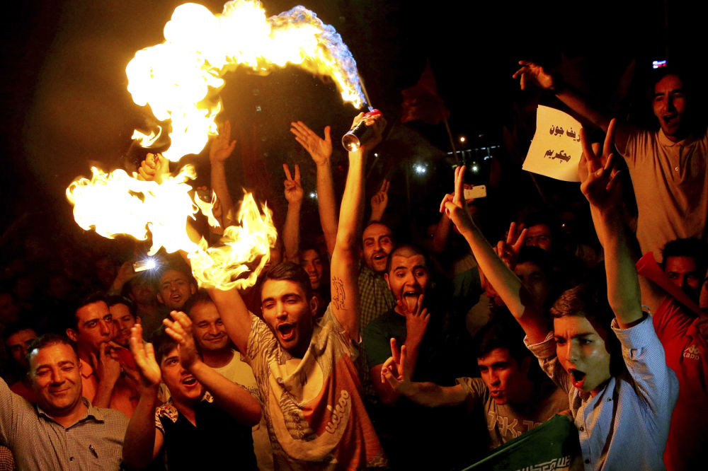 Dancing in the Street: Iranians Celebrate Nuclear Deal