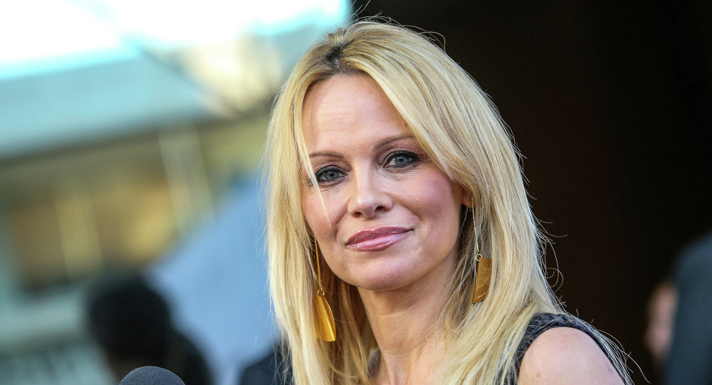 Pamela Anderson attends the world premiere of Unity at the DGA Theater on Wednesday, June 24, 2015 in Los Angeles