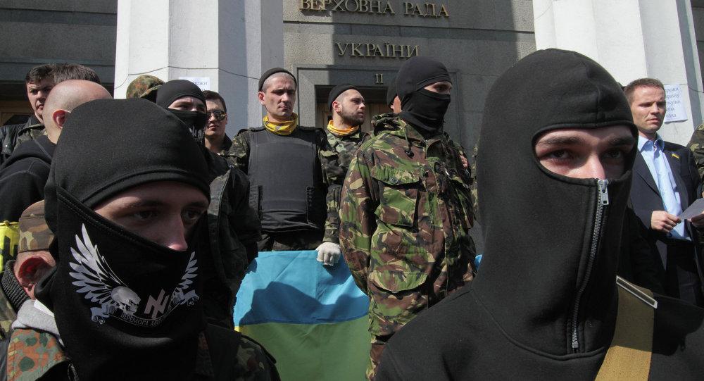 Rally for resignation of Ukrainian Interior Minister Arsen Avakov in Kiev