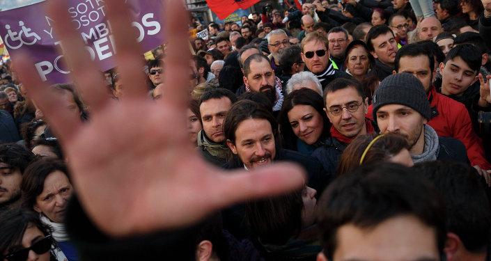 Spain Podemos rally