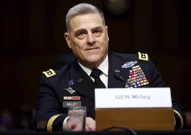U.S. Army General Mark Milley smiles as he begins his testimony at a Senate Armed Services Committee hearing on his nomination to become the Army's chief of staff, on Capitol Hill in Washington July 21, 2015