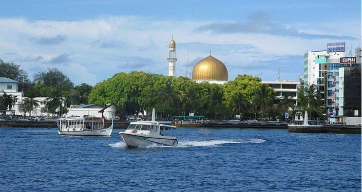 Male, the capital of Maldives