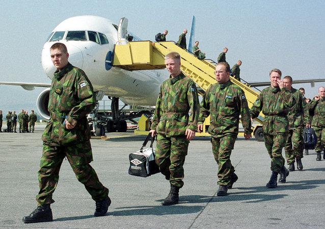 Finnish troops
