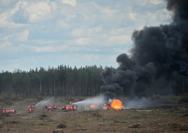 MI-28 helicopter crashes in Ryazan Region