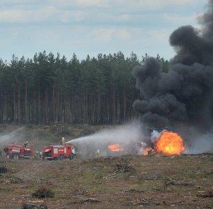 MI-28 helicopter crashes in Ryazan Region