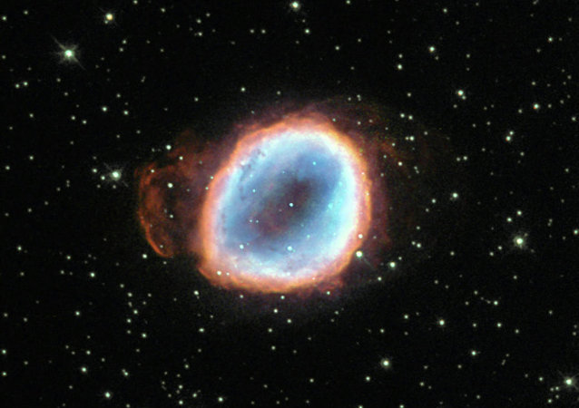 Image of Planetary Nebula NGC 656 captured by Hubble Space Telescope