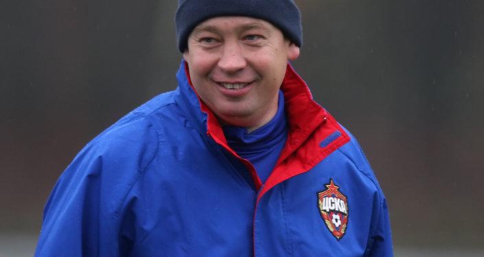 FC CSKA coach Leonid Slutsky
