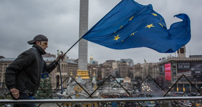 Rally to support Ukraine's integration with Europe on Independence Square, Kiev