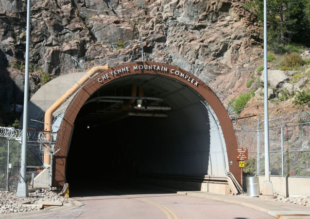 The portal into the bowels of the Cheyenne Mountain complex is shown in this photograph taken on Tuesday, Sept. 5, 2006, near Colorado Springs, Colo. The country's super-secret nerve center will be put on warm standby by the military and operations shifted to nearby Peterson Air Force Base in an effort to save money.