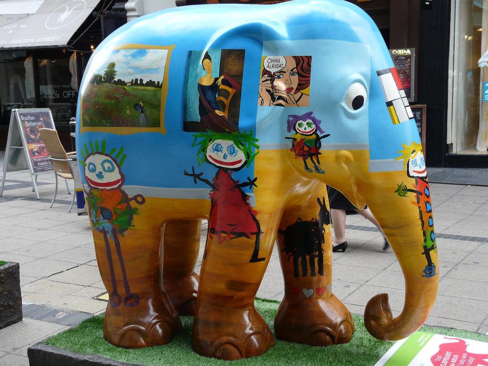 'Young at Art'elephant at South Molton Street, London