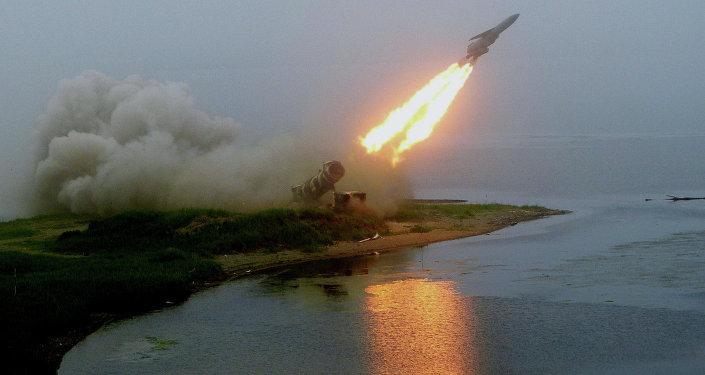 Launch of coastal rocket complex Redoubt