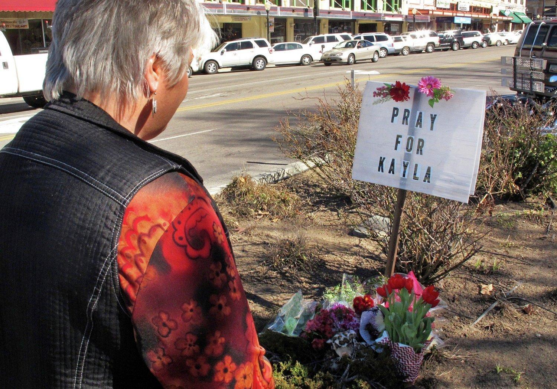 Memorial for Kayla Mueller in her hometown of Prescott, Arizona
