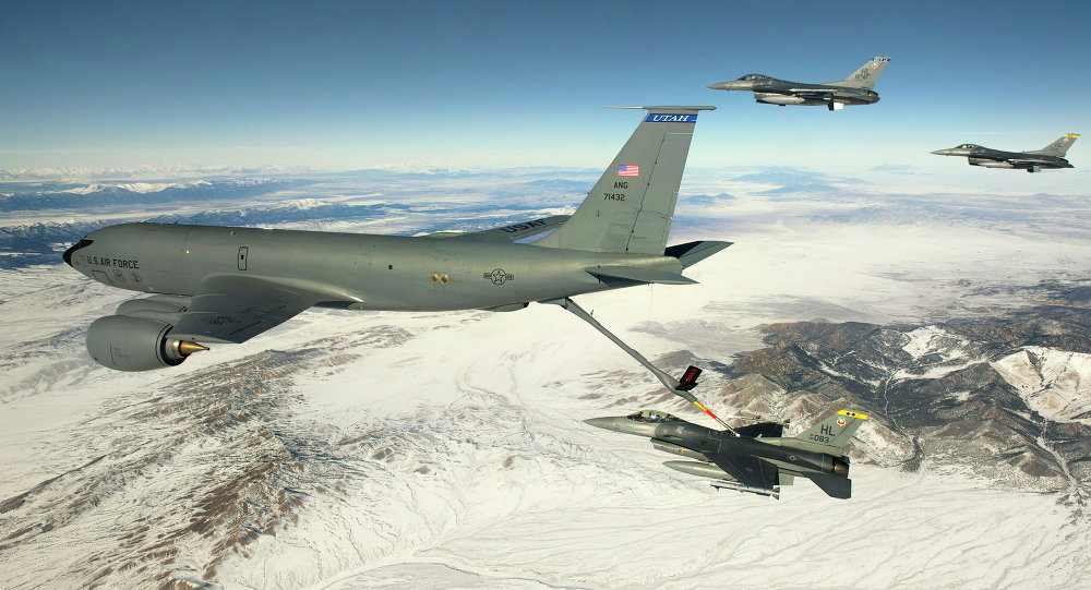 The first testflight for a new Air Force tanker has been delayed after mechanics pumped a corrosive chemical into the fuel line.