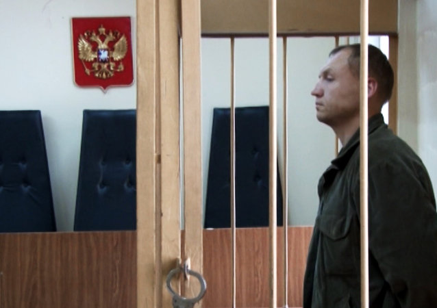 Employee of the Tartu Department of Estonian Security Police (KAPO) Eston Kohver detained in the Pskov Region at the trial in Moscow's Lefortovo Court