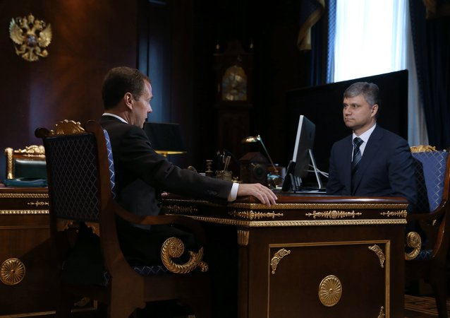 Meeting of the prime minister of the Russian Federation D. Medvedev and the new head of the Russian Railway O. Belozerov
