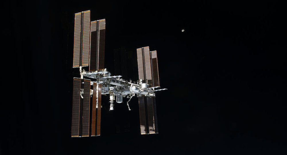 This picture of the International Space Station was photographed from the space shuttle Atlantis as the orbiting complex and the shuttle performed their relative separation in the early hours. File photo
