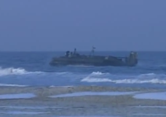 North Korean hovercraft