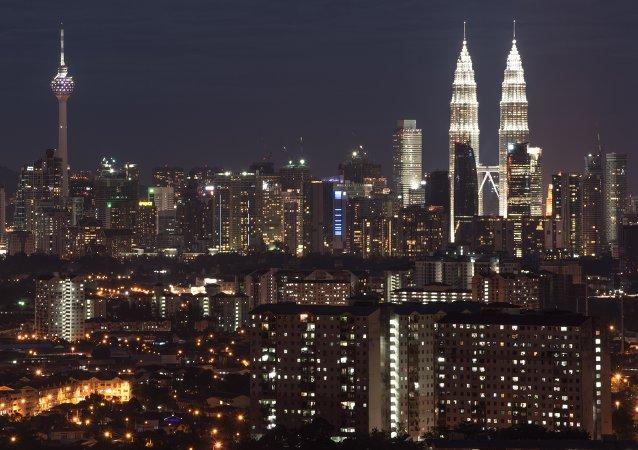 The city skyline of Kuala Lumpur in Ampang